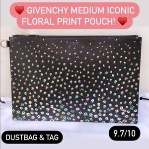 Givenchy medium iconic floral pouch